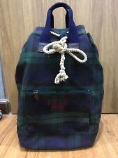 Vintage 90s Polo Blackwatch Canvas Drawstring Duffle Sling Bag