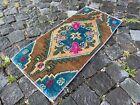 Decor rug, Organic vintage rug, %100 wool handmade, Turkish rug | 1,2 x 2,6 ft