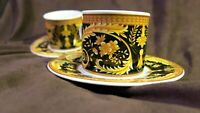 Rare Vintage Lynns Fine China Two Demitasse Cups and Saucers