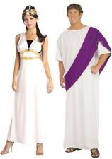 Couples Costumes Roman Noble & Maiden Adult Toga Greek White Robe Rubies