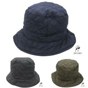 Quilted Bucket Hat Fishermans Style In Choice of Dark Colours One Size Quality