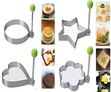 4 psc Stainless Steel Pancake Mold Ring Cooking Fried Egg Shaper Kitchen Tool