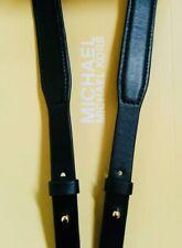 "43""x 1"" Michael Kors Gold / Black Leather Replacement Handbag Shoulder Strap"