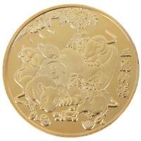 2020 Jahr der Ratten Gedenkmünze Chinese Zodiac Challenge Coin Craxj