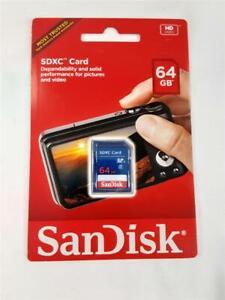 SanDisk 64GB SD SDXC Photo & Video Camera Flash Memory Card 64GB SDSDB-064G-A46