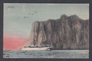 NORWAY 1924 NORDKAP NORTH CAPE POSTCARD NORDKAP TO TARENTUM PENNSYLVANIA USA