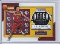 2018-19 PANINI CONTENDERS COLLIN SEXTON #8 LOTTERY TICKET Rookie Card Cavaliers