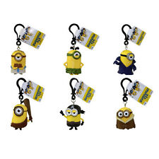 Minions Movie - PVC Figurine Backpack Clip - SET of 6 MINIONS - New