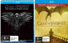 Game Of Thrones SEASON 4 & 5 : NEW Blu-Ray