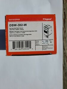WATTSOPPER DSW-302-W Occupancy Sensor Wall Switch Dual Relay 120/277 VAC