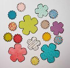 Stanzteile gemusterte Papierblumen, Scrapbooking, Kartenaufleger