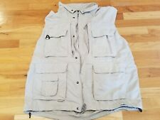Columbia Titanium Fishing Vest Omni-Dry Men's 2XL Tan - XXL BROKEN ZIPPER