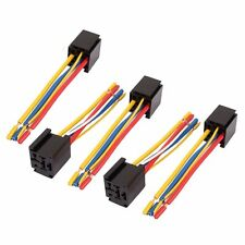 Universal 5 Pcs Car Truck DC 12V/24V 5-Pin Wire Relay Socket Harness Connector