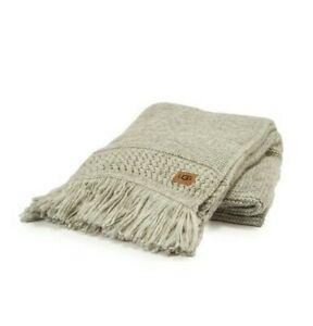 "Ugg Paz Knit Open Stitch 50"" x 70""  Throw Blanket in Seal Grey"