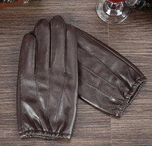 Fashion  Men's High-End Genuine Leather Gloves Police Gloves / Driving Gloves