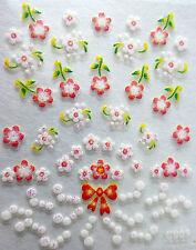 Accessoire ongles: nail art - Stickers autocollants - fleurs,pois et noeuds