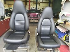 Porsche Boxster 986 996 8 Way Black Seats with lumbar support- New covers