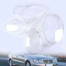 2pcs Headlight Cover Lens Plastic Shell for Mercedes-Benz E-Class W211 2003-2009