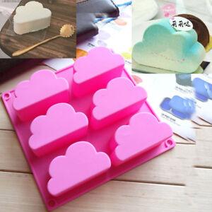 Cloud Cake Jelly Fondant Mold Chocolate Baking Soap Handmade Mould Tray Ice Cube