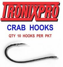 10 TRONIX CRAB HOOKS SIZE 2 FOR SEA FISHING LINE BOAT ROD BAIT CLIP RIGS LURES