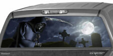 GRIM REAPER Cemetery Rear Window Graphic Tint Decal Sticker Truck Suv Jeep Ford
