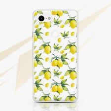 Lemon Pixel XL 2 Rubber Case Floral Google Phone Cover Pixel 3A XL Silicone Snap