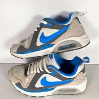 Nike Air Max Trax GS Boy's Trainers 644453-103 White/Blue/Grey Size UK 5 EUR 38