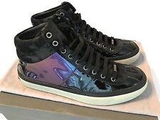 Jimmy Choo Sneakers Belgravia Petrol Hologram Patent Leather EU42 US9 UK8