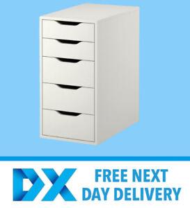 IKEA ALEX 5 Drawer Unit H70 x W36 x H58cm White