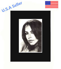 Aaliyah 8x10 matted Art Print Poster Decor picture Gift Photograph Display