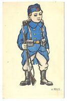 CPA Fantaisie Militaire Le Belge  Carte peinte à la main fantasy postcard