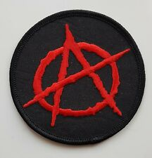 ANARCHY SYMBOL PATCH Cloth Badge Punk Rock Biker Anarchist Socialist Communist