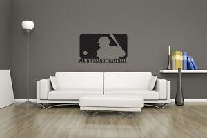 Huge MLB Baseball Logo Vinyl Sticker Decal Wall Art / Man Cave