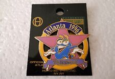"Vintage 1996 Atlanta Olympic Games Izzy Star ""WELCOME"" cut-out style pin"