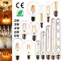 CoxLED E27 220V E14 2/4/6/8W Edison Retro  Filament LED Bulb Candle Light Lamp