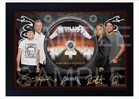 NEW Metallica Master Of Puppets SIGNED Autographed FRAMED PHOTO CD Disc
