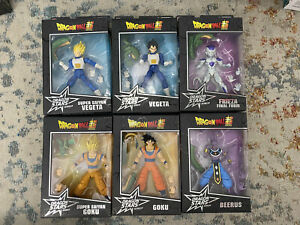 Dragon Stars Series 1 6 Action Figure Complete Set ~ Goku Vegeta Beerus Shenron