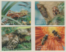 BHUTAN 30971 - 19INSECTS 'Postage' set of 4 in 3-DIMENSIONAL FORMAT Mi269-72