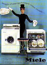 PUBLICITE ADVERTISING 034 1965 MIELE machine à laver, lave-vaisselle  couleur