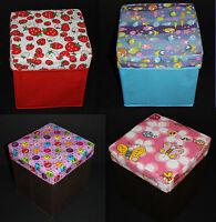 1 Kids Decor foldable chair ottoman storage cube organizer 9 3/4 x 9 3/4 x 10 IN