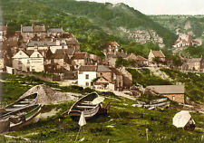 "P34 Vintage 1890's Photochrom Photo - Runswick Bay Nr Whitby - Print A3 17""x12"""