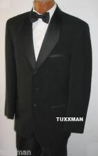 40 S Black Tuxedo Tux European Diamond Shawl Coat Closeouts Tropical Weight Wool