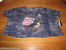 "Billabong Juniors Womens M Navy ""Free Spirit"" t shirt surf sk8 NWT 28.50^^"