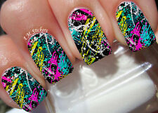 Abstract Print A1103 Nail Art Stickers Transfers Decals Set of 22