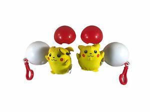 Vintage 1999 Burger King Pokemon Pikachu Bean Bag Plush Toy & Pokeball