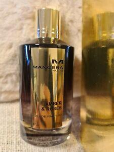 Mancera Amber & Roses 4.0 fl. oz 120ml Eau de Parfum Unisex Perfume