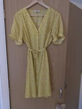 Vestido De Verano Amarillo Lunares Tamaño 12