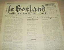 LE GOELAND N°76 1946 ANTHOLOGIE DES POETES DU GOELAND JEAN PAUL ET MARCEL PROUST