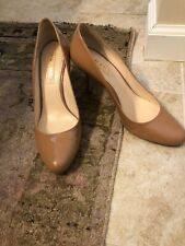 """Authentic Prada Nude Pumps Heels Round Toe 40.5 3"""" Heel"""