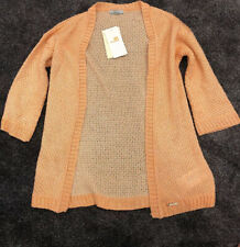 Mayoral Casual Orange And Gold Cardigan Girls Age 10/140cm Cost £23.95